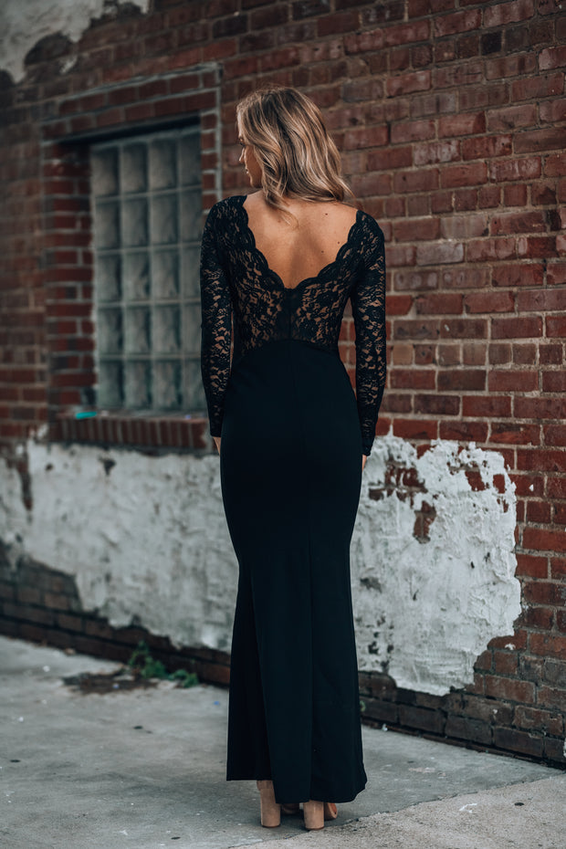 Old Fashion Love Gown (Black)