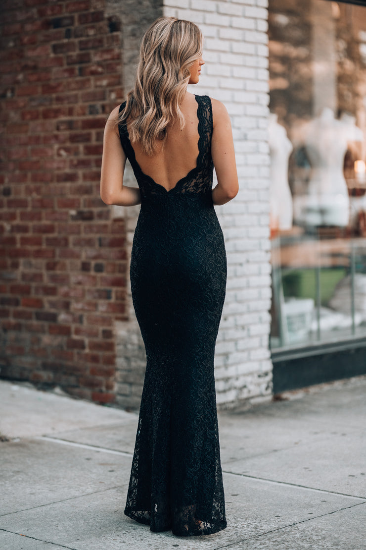 Let's Dance Glitter Gown (Black)