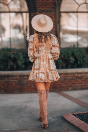 Tuscan Sun Peasant Mini Dress
