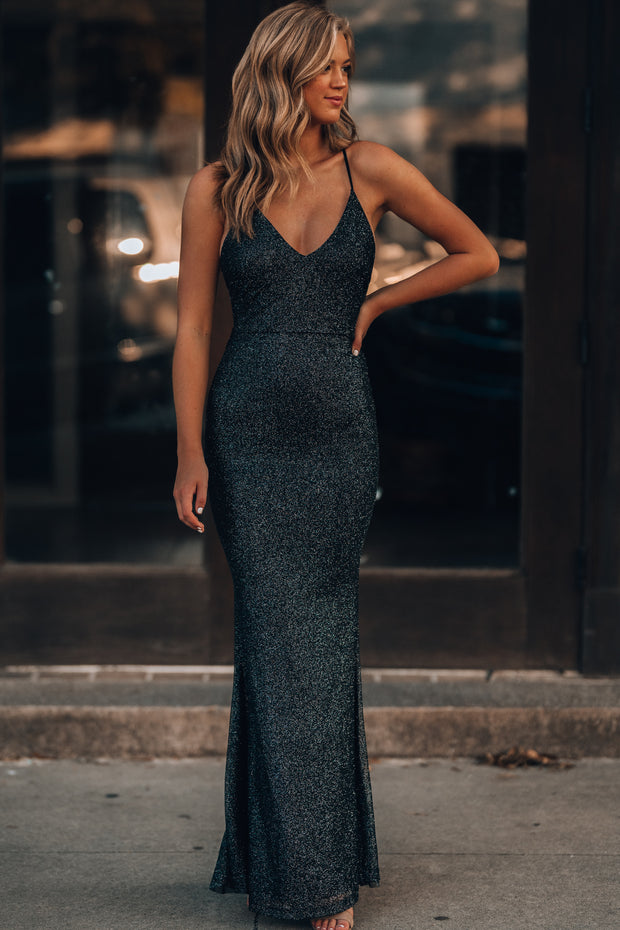 This Is Love Glitter Gown (Black) PRE-ORDER Ships Late November