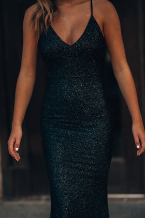 This Is Love Glitter Gown (Black)