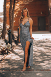 Fall In Love Glitter Gown (Silver)