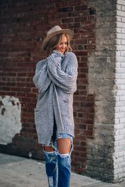 Oversized and Cozy Cardigan (Grey)