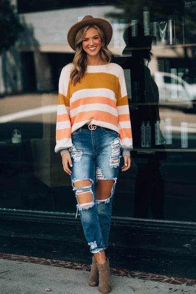 November Striped Knit Sweater