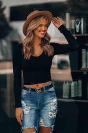 Shayla Crop Top (Black)