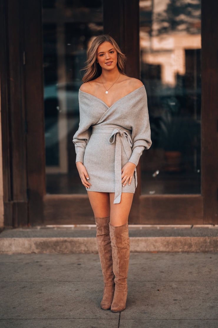 Riveria Sweater Dress (Grey)