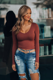 Shayla Crop Top (Merlot)