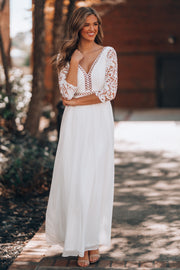 In Your Arms Lace Gown (White)