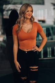 Bali Babe Crop Top (Pumpkin)