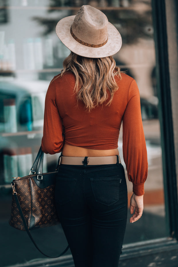 Princess Long Sleeve Crop (Rust) - FINAL SALE