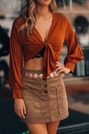 Practical Magic Crop Top (Pumpkin) - FINAL SALE