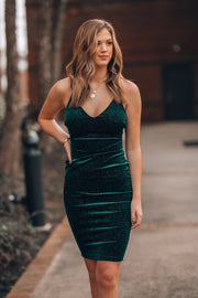Make Me Love You Velvet Midi Dress