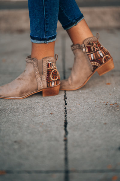 Layla Embroidered Booties
