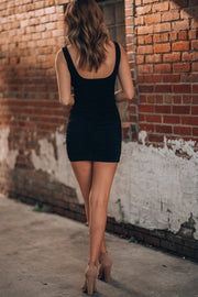 Main Attraction Mini Dress (Black)
