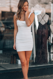Main Attraction Mini Dress (White)