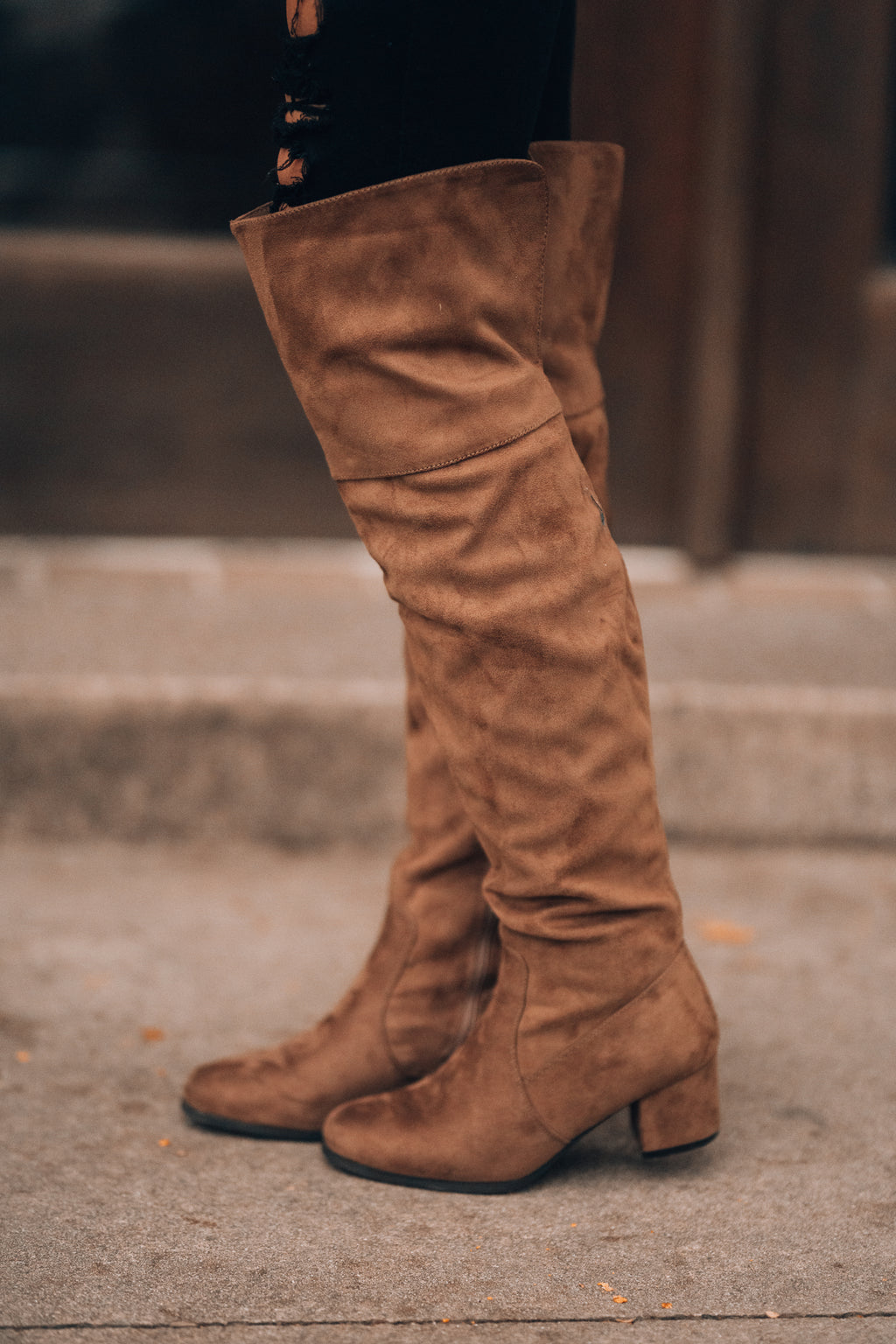 Dylan OTK Boots (Taupe)