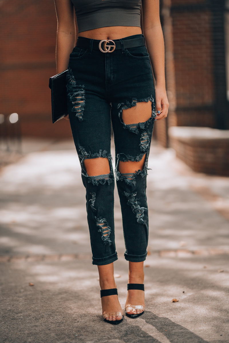Golden Boyfriend Jeans (Black)