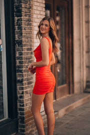 Main Attraction Mini Dress (Tangerine)