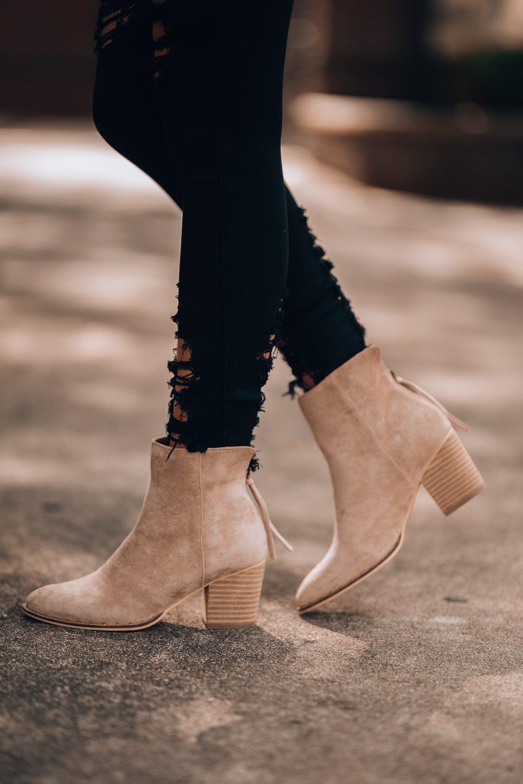 Juliette Booties (Taupe)