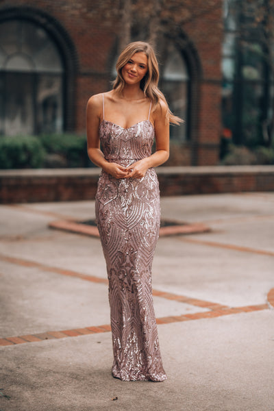 Night Vision Sequin Gown (Lavender)