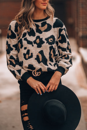 Margaux Leopard Sweater - FINAL SALE