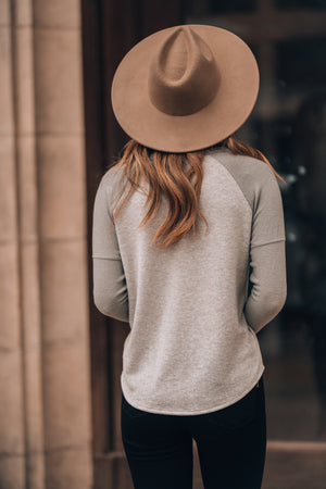 Made For You Wide Brim Hat (Khaki)
