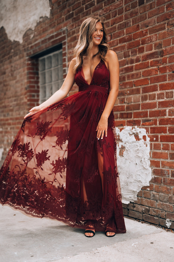 All My Love Maxi Gown (Wine)