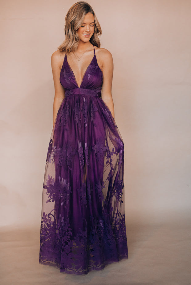 All My Love Maxi Gown (Amethyst)
