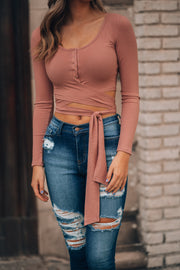 Simmona Wrap Top (Rose)