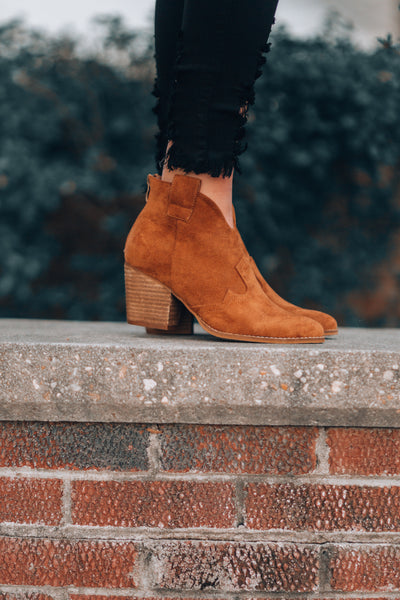 Athena Booties (Tan)