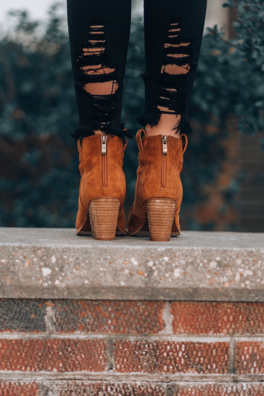 Athena Booties (Tan) - FINAL SALE
