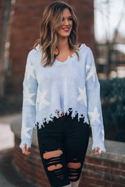 Starry Eyed Sweater (Baby Blue)