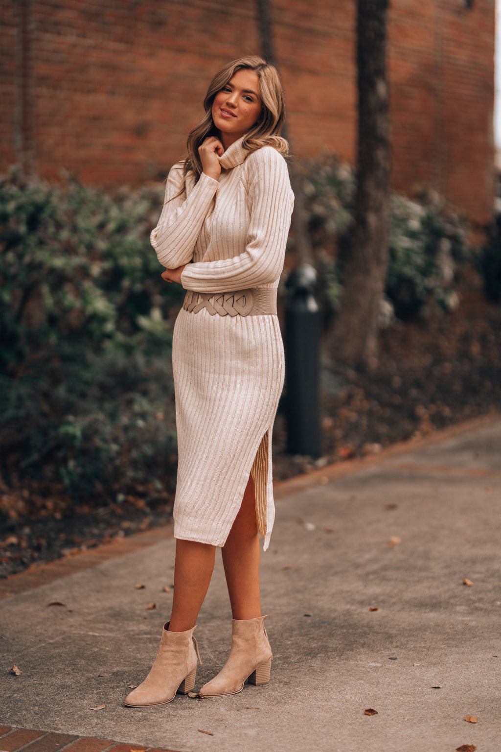 Solange Ribbed Sweater Dress