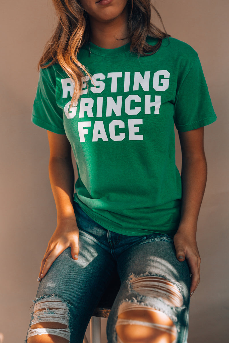 Resting Grinch Face Tee (Green)
