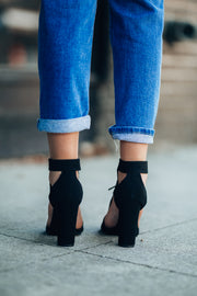 Lace Up Booties (Black) - FINAL SALE