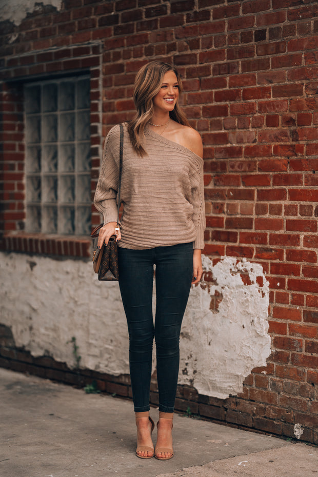 But First, Coffee Slouch Sweater