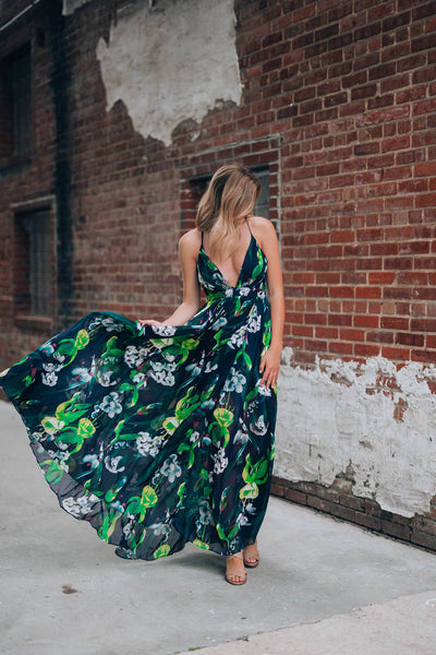 The Belize Floral Gown