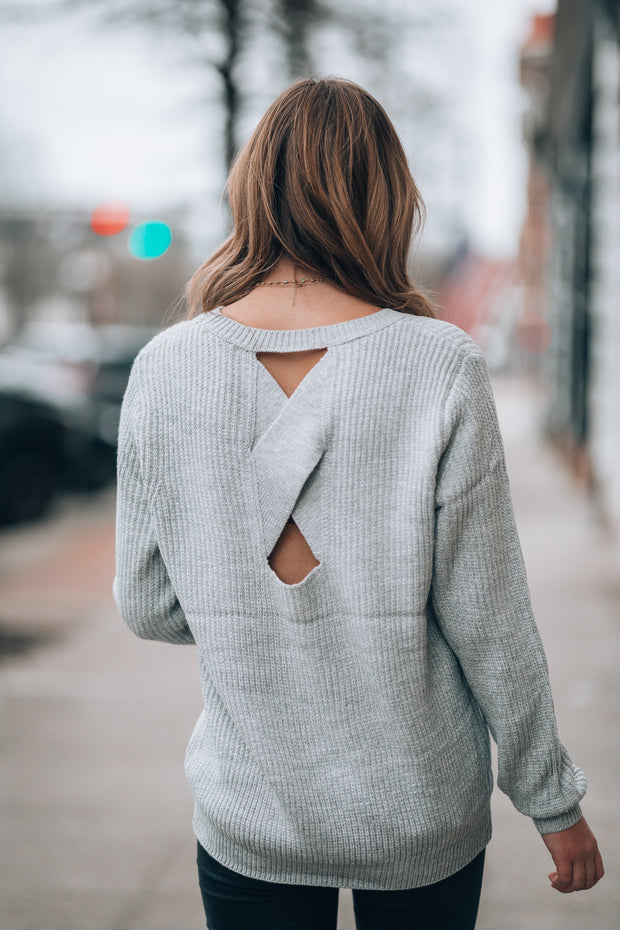 Georgia Cross Knit Sweater