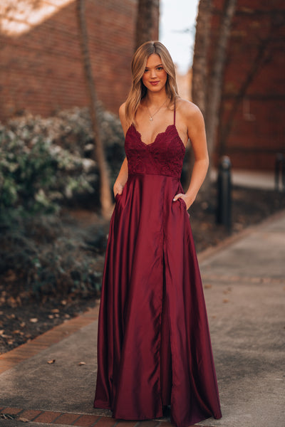 Ready To Dance Gown (Wine)