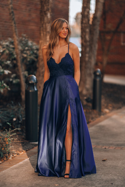 Ready To Dance Gown (Navy)