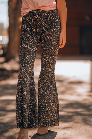 Stones Leopard Bell Bottoms - FINAL SALE