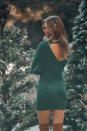 Riveria Sweater Dress (Forest Green)