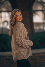 Wildflower Cardigan (Mocha)