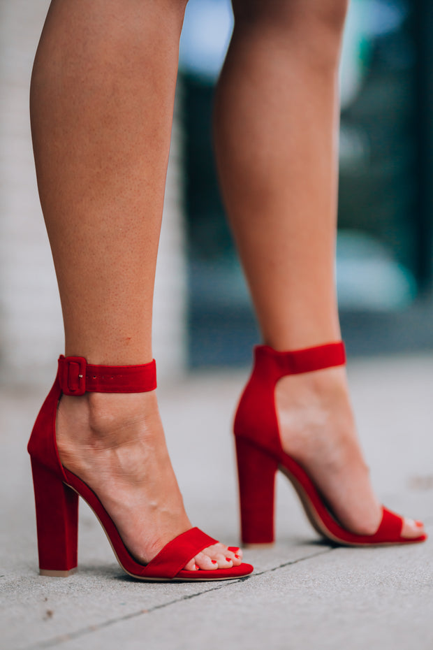 Cynthia Block Heel (Red)