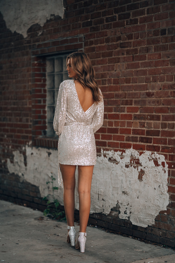 Champagne Kisses Sequin Mini Dress PRE-ORDER Ships End Of November
