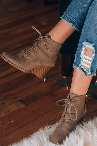 Gina Lace Up Wedges