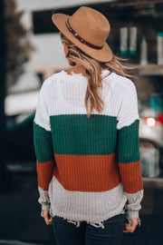 Chic Striped Sweater (Forest Green) - FINAL SALE