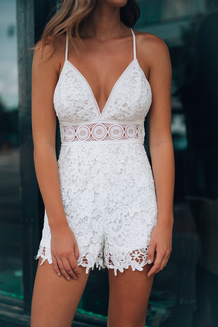 Stevie Lace Romper