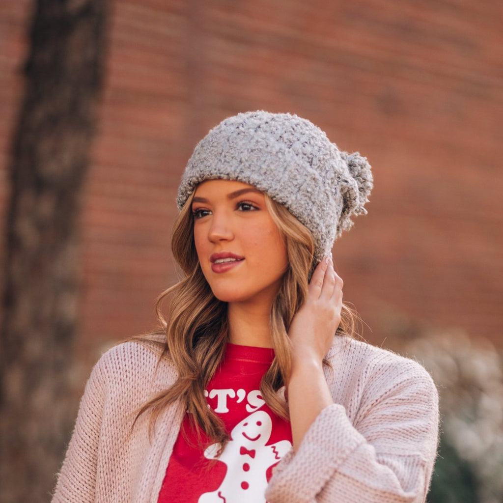 Snowed In Pom Beanie (Grey)