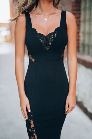 Long Time Love Lace Gown (Black)